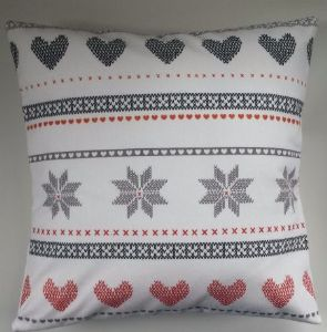 Cushion Cover Made in Next Hearts and Snowflakes Brushed Cotton